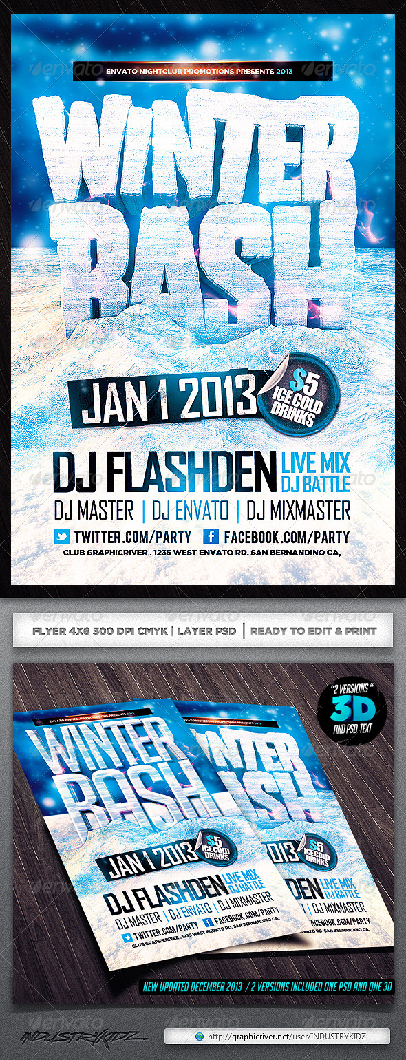 Winter Bash PSD Flyer - Events Flyers