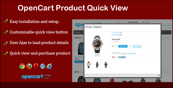 Product Quick View for Opencart