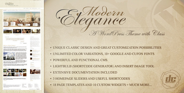 Modern Elegance - A WordPress Theme with Class