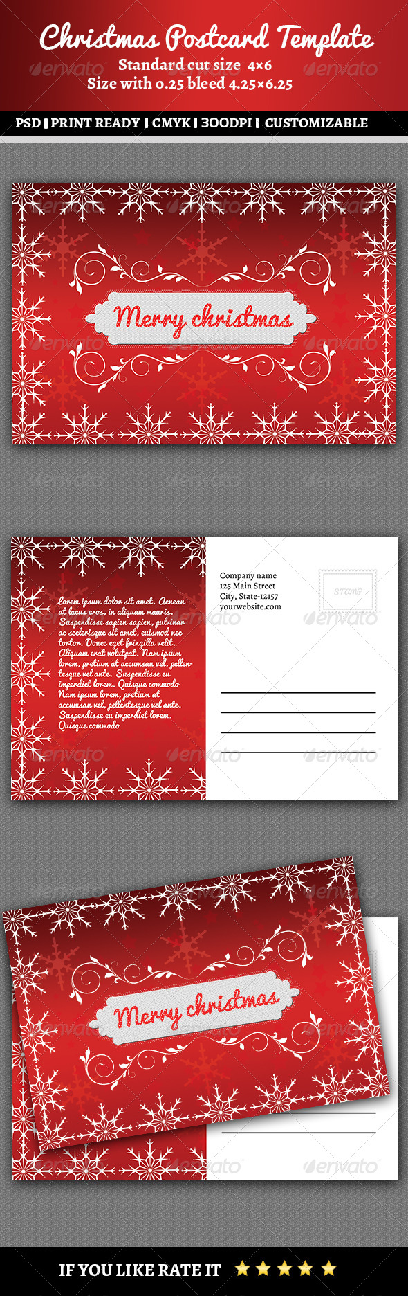 GraphicRiver Christmas Postcard 6284449