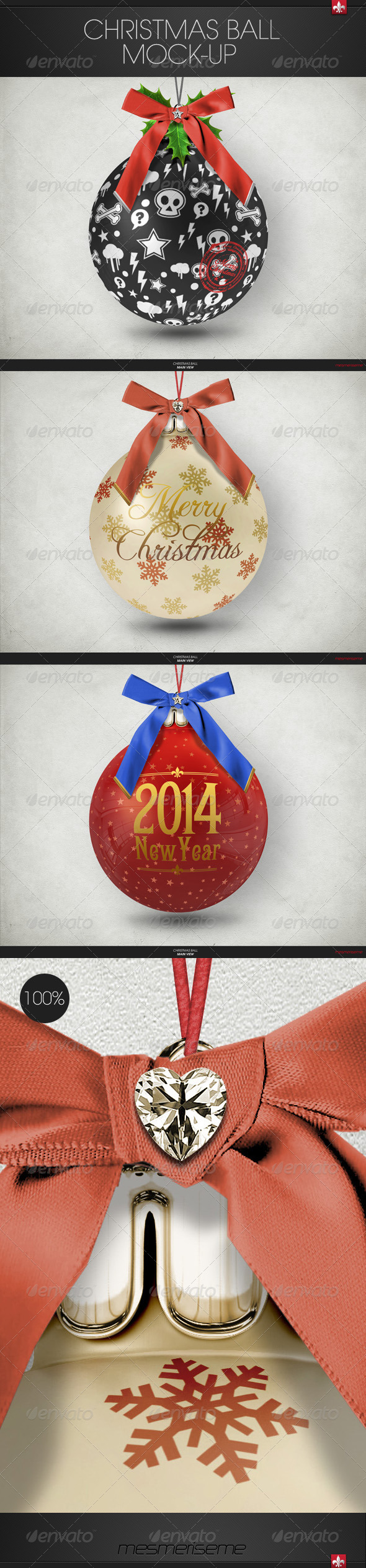GraphicRiver Christmas Ball Mock-up 6284453