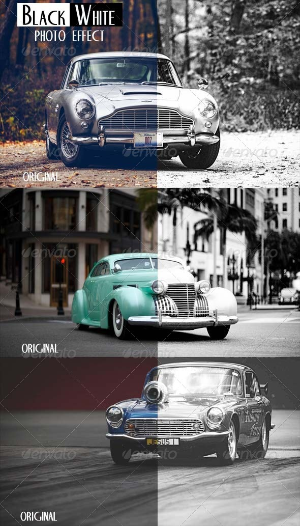 GraphicRiver Black&White Psd.Action 6285810