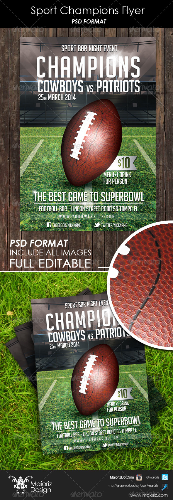 GraphicRiver Sport Champions Flyer 6285812