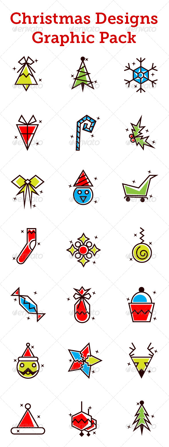 GraphicRiver Christmas Designs Vector Pack 6286037