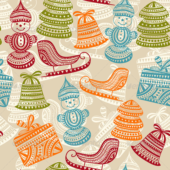 GraphicRiver Vector Seamless Winter Pattern 6286063