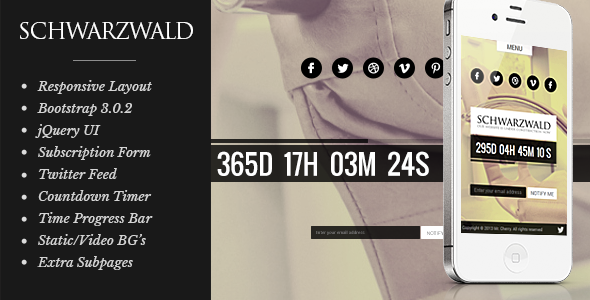 Schwarzwald - Responsive Under Construction Page