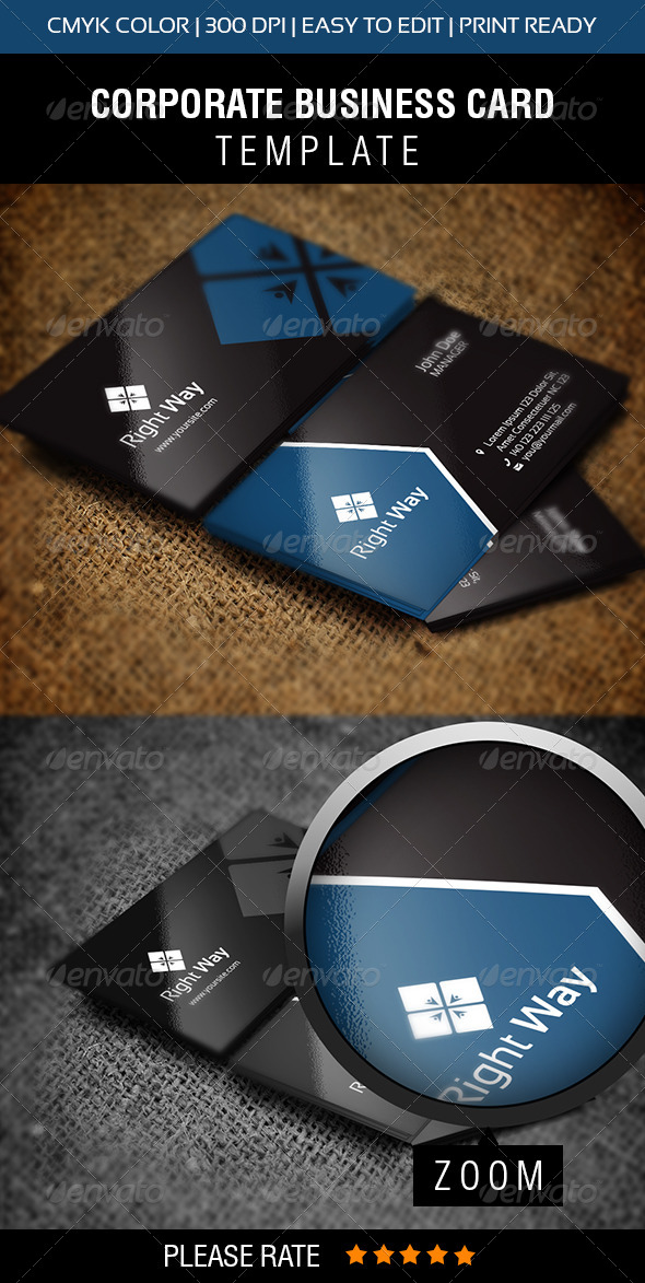 GraphicRiver Right Way Business Card 6286092