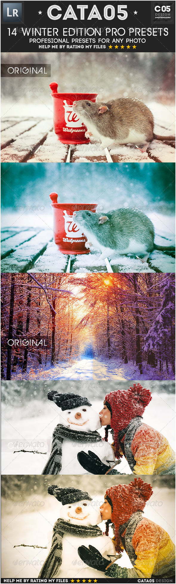 GraphicRiver 14 Winter Edition Pro Presets 6286246