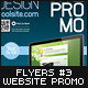 Website Promo Flyers v.3 - GraphicRiver Item for Sale