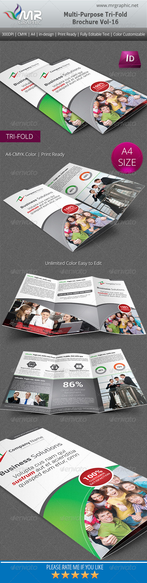 GraphicRiver Multipurpose Business Tri-Fold Brochure Vol-16 6286256