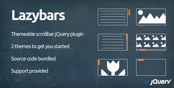 CodeCanyon Lazybars Themeable scrollbar jQuery plugin 6286371