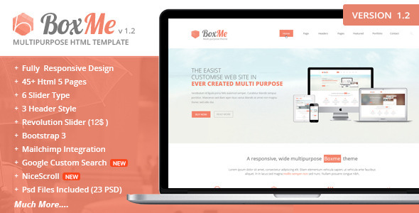 BoxMe Responsive Multipurpose Template - Business Corporate