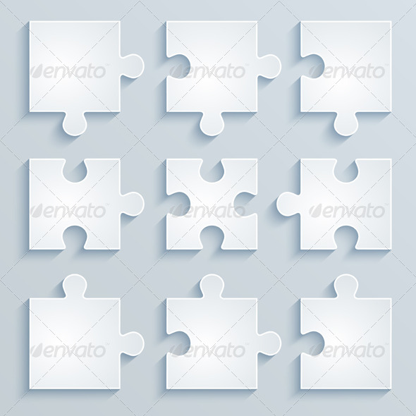 GraphicRiver Parts of Paper Puzzles 6286515