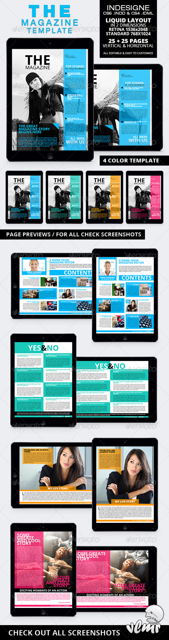 GraphicRiver The Magazine Tablet Template 6286533