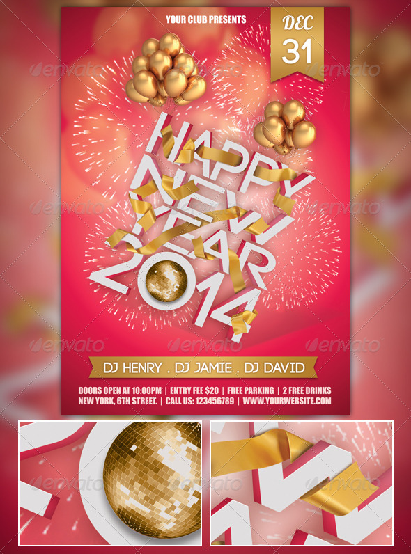 GraphicRiver New Year Flyer 6286698