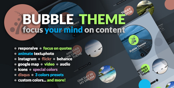 Bubble Ghost Theme - Ghost Themes Blogging