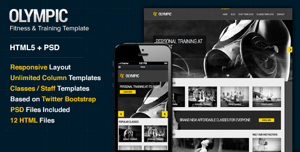 Olympic - Fitness & Health Site Template