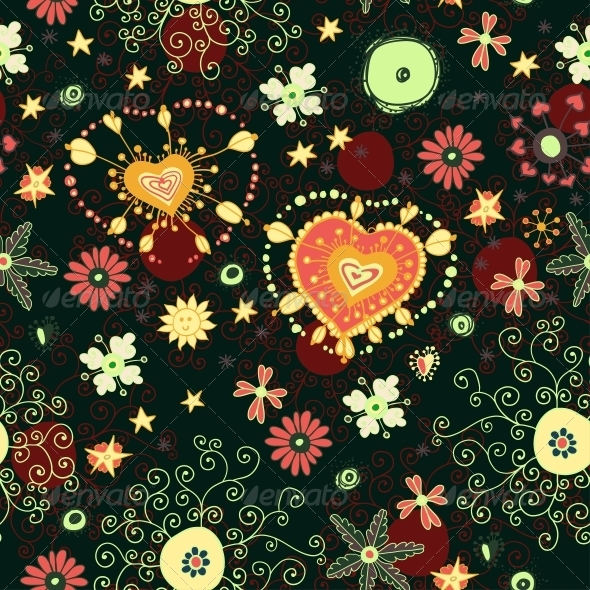 GraphicRiver Floral Seamless Pattern with Flowers 6287501