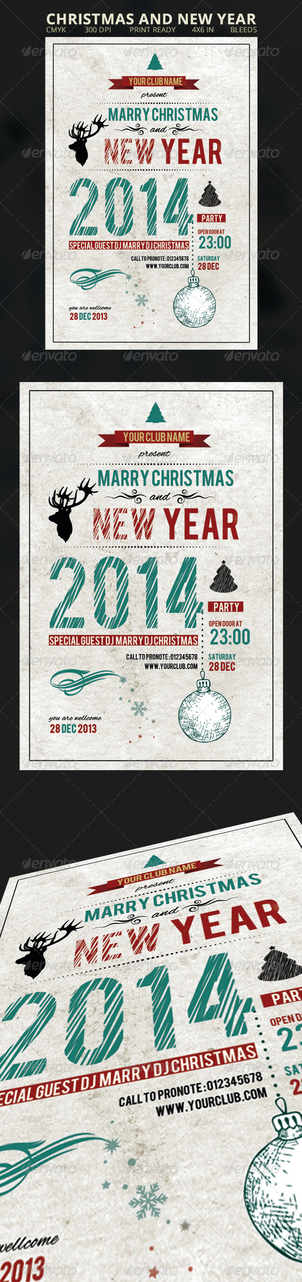 GraphicRiver Christmas and New Year Flyer 6287697