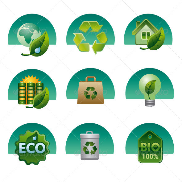 GraphicRiver Ecology Icon Set 6287772