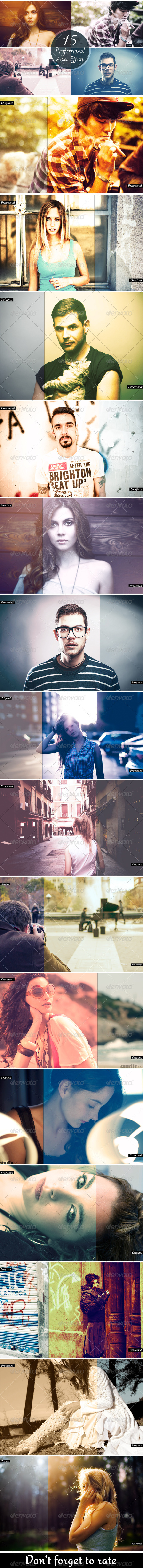 GraphicRiver 15 Professional Actions Effects 6288017