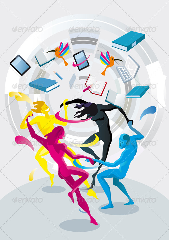 GraphicRiver Dancers of Colors 6288534