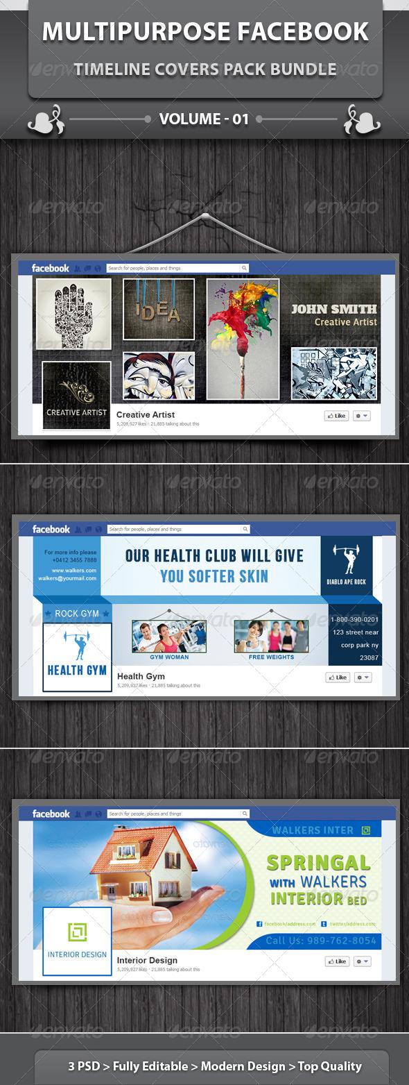 GraphicRiver Multipurpose FB Timeline Covers Pack Bundle v1 6288551