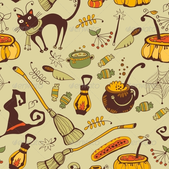 GraphicRiver Halloween Seamless Background 6288923