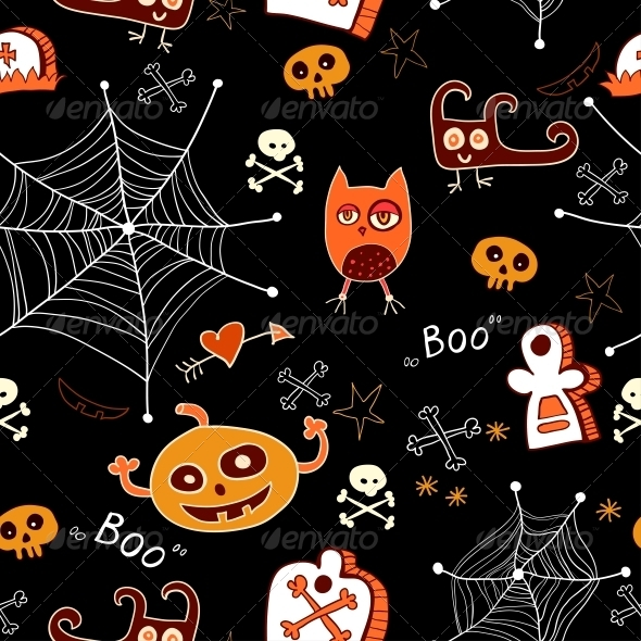 GraphicRiver Halloween Seamless Background 6288928
