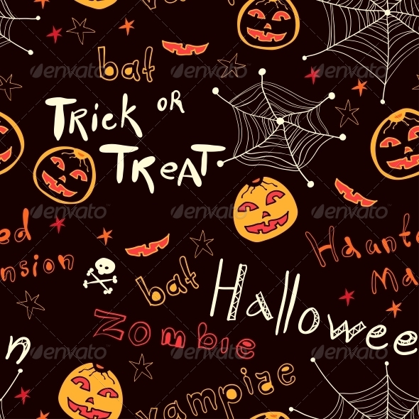 GraphicRiver Bright Text and Pumpkins 6288945