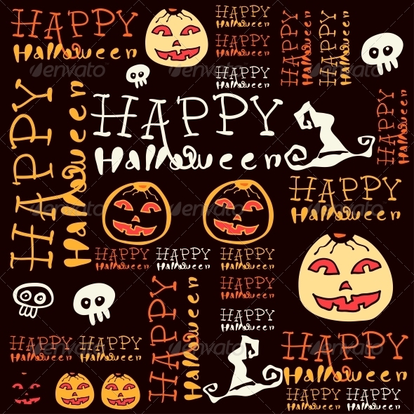GraphicRiver Halloween Background with Bats and Pumpkin 6288947