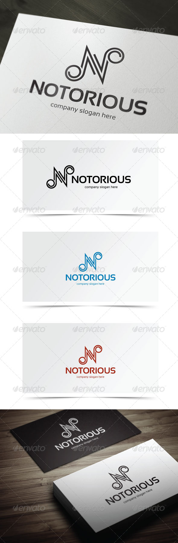 Notorious - Letters Logo Templates
