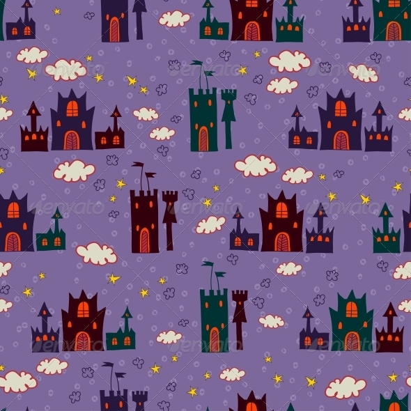 GraphicRiver Seamless with Cartoon Castle Pattern 6289018