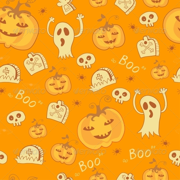 GraphicRiver Pattern with Halloween Objects 6289023