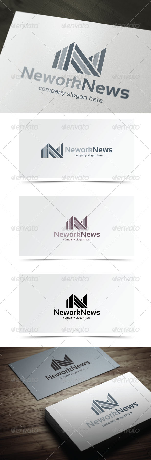 Network News - Letters Logo Templates