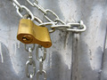 Golden Padlock and Silver Chain 1 - PhotoDune Item for Sale