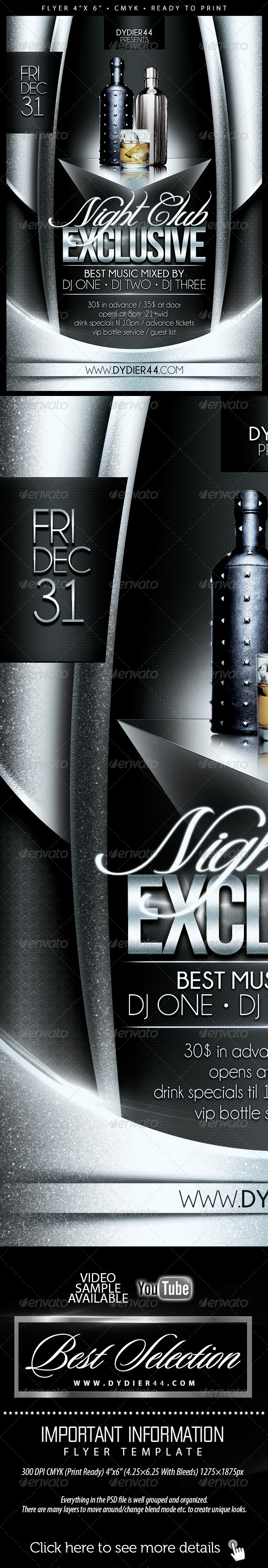 GraphicRiver Nightclub Exclusive Flyer Template 4x6 6289164