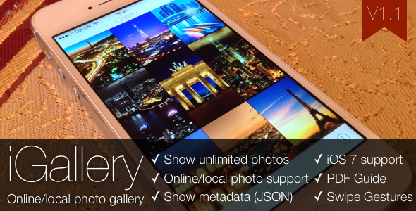 iGallery - Online/Local Photo Gallery for iOS