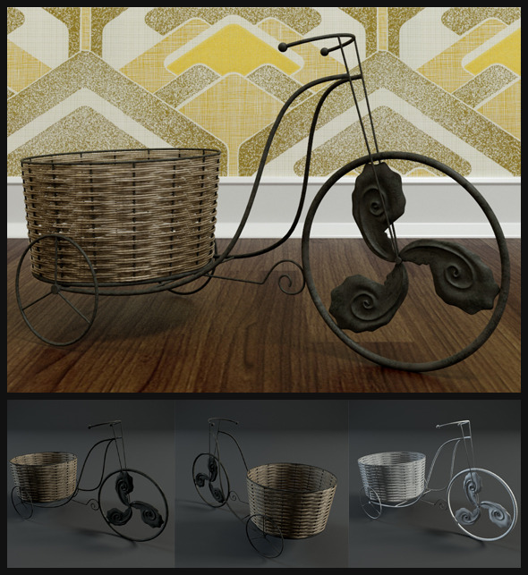 Old Antique Bicycles - 3DOcean Item for Sale