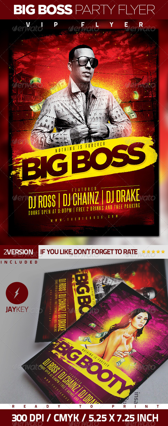 GraphicRiver Big Boss Party Flyer 6289681