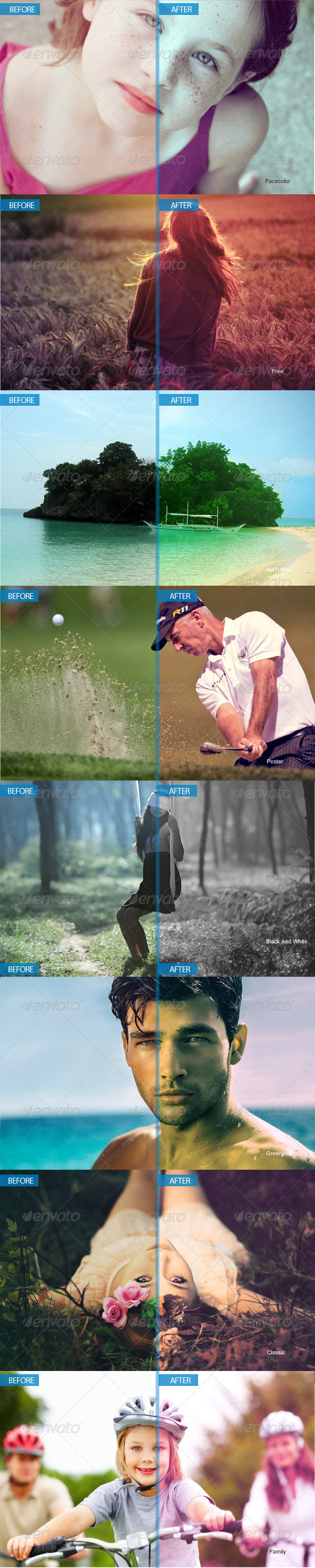 GraphicRiver Professional Photoshop Actions 6252779