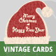 5 Vintage Christmas Cards/Backgrounds - GraphicRiver Item for Sale