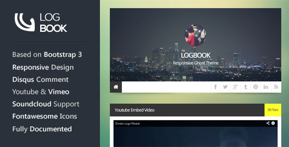 ThemeForest LogBook Responsive Ghost Theme 6289802