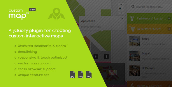 CodeCanyon Custom Interactive Map jQuery Plugin 6275001