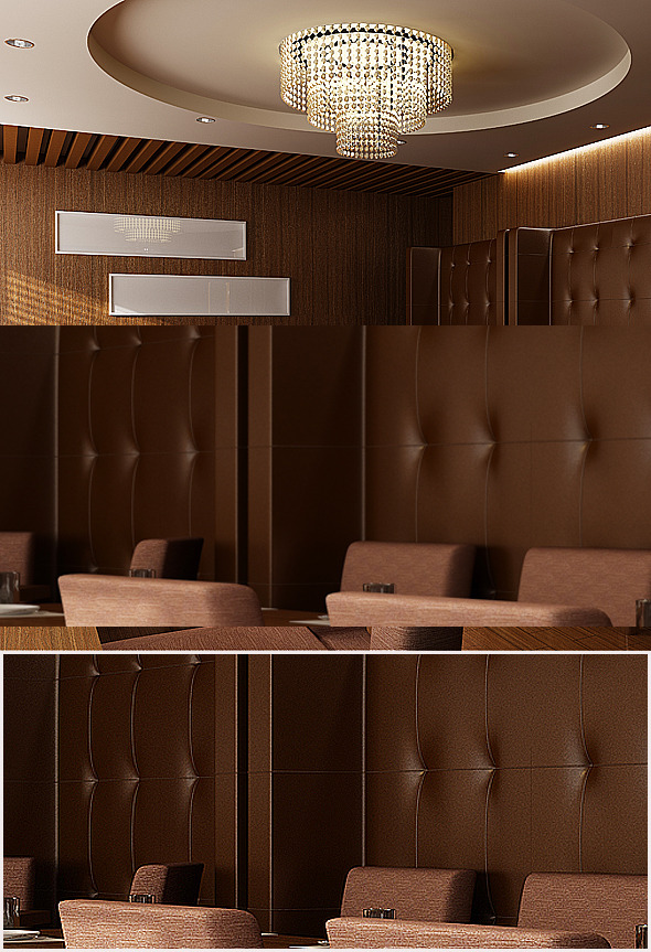 Realistic Restaurant Interior 3D model - 3DOcean Item for Sale