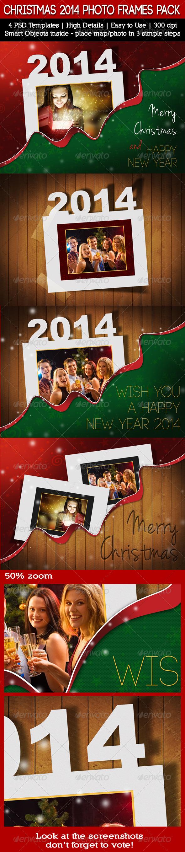 GraphicRiver Christmas Holidays 2014 Photo Frames Pack 6289829