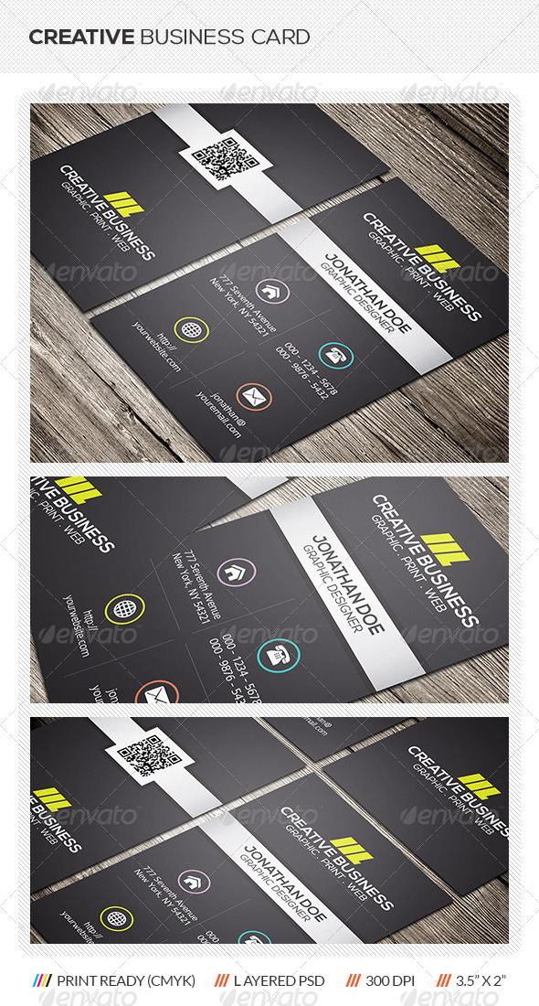 GraphicRiver Metro Style Business Card 6289981