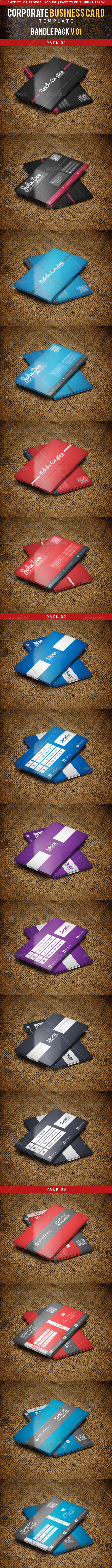 GraphicRiver Corporate Business Card Bundle Pack 01 6290013