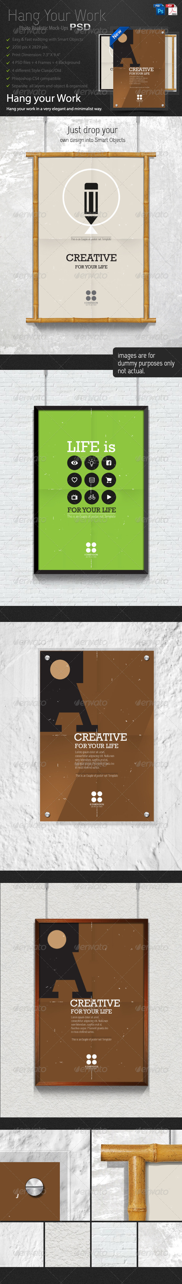 GraphicRiver Hang Your Work 6259890