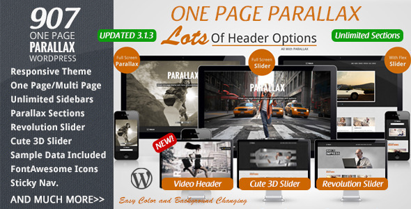 Theme para WordPress Efecto Parallax 907